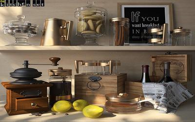 Create Beautiful Kitchen Assets 3D Model Maya Max Source Project!!
