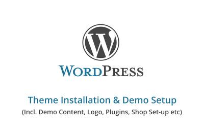 WordPress Theme's Demo Installation