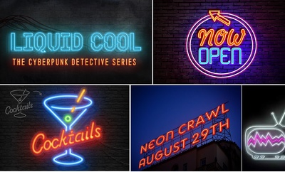 Replicate your text or logo in Neon style