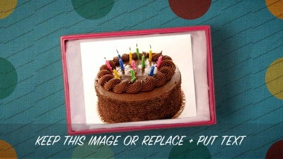 Create a happy birthday video for someone special