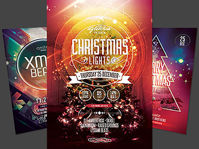 Design an attractive Holiday Party or Events Flyer/ Invitation Card/ Poster  with u