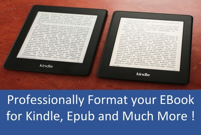 professionally FORMAT your Ebook for Kindle, Epub and other Ebook Formats