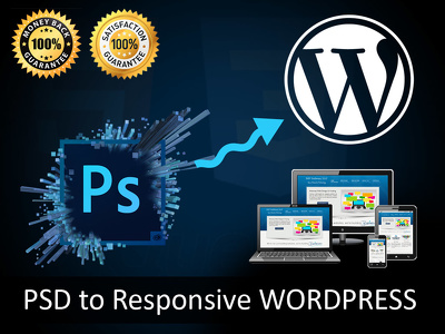 Premium PSD to fully responsive (PSD to Wordpress ) using Bootstrap.