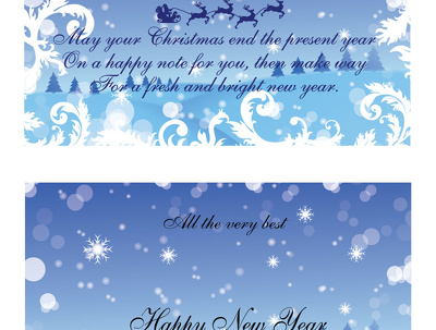 Design a customized Christmas or New Year Greetings or Birthday or any Occasion Card