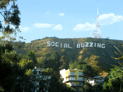 See your message created on the Hollywood Hills!