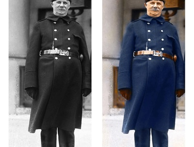 Professionally  restore and colourise/colorize a black & white photo