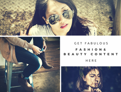 Write a stunning fashion, beauty or instructional blog post with pictures