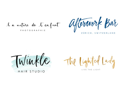 Design a handwritten logo in brush lettering