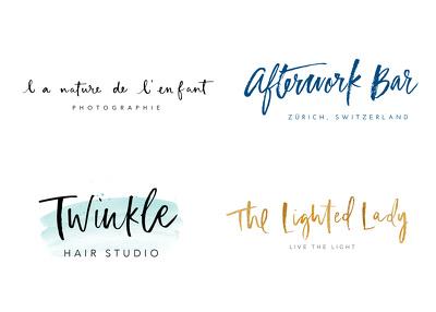 Design a handwritten logo in brush lettering