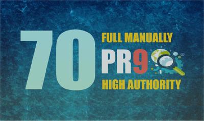 Do 70 High AUTHORITY PR9 Backlinks