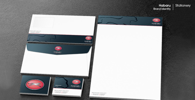 Create a professional brand identity with logo and stationery design