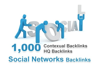 Get you 1000 contextual backlinks from social networks articles