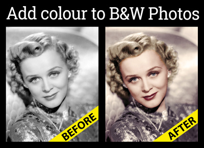 Change a black and white photo into colour
