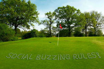 Write your company name, message or text with golf balls.