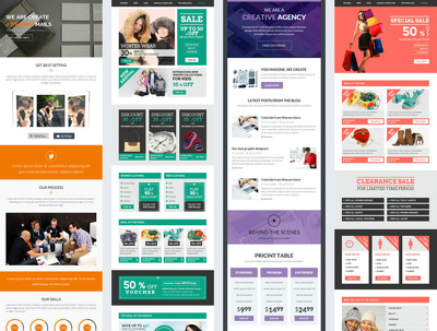Design and code responsive HTML email template, HTML newsletter or Email campaign