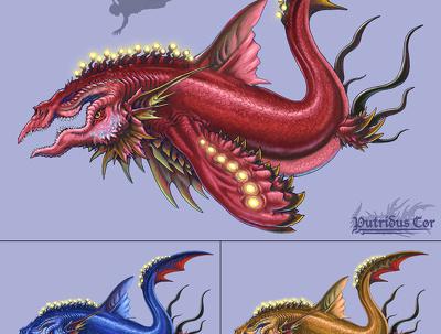 Design a creature, digitally coloured