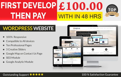 build a fully responsive WordPress 10 pages website for you