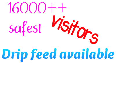Send 16000+ safe traffic to your website, drip feed available