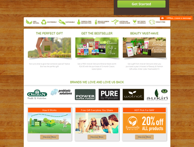 E commerce website from theme