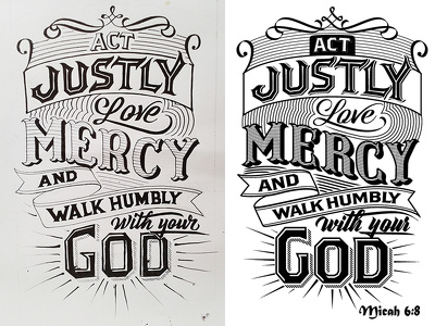 Unique and original Typographic Artwork for T-shirts or Posters