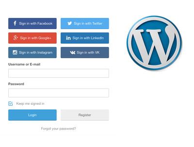 Configure social logins for your WordPress website