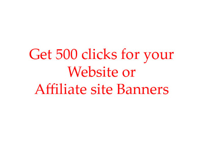 Provide 500 clicks for your banners