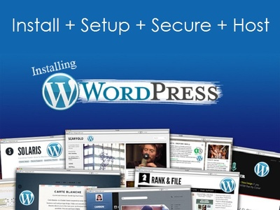 Wordpress SECURED theme installation with demo content
