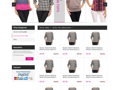 Create custom BESPOKE RESPONSIVE design for your eBay store plus free installation