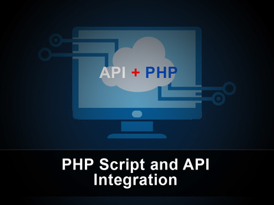 PHP script and API integration to your website.
