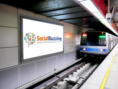 Advertise your logo or company name on wall of subway station