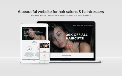 Build a ready-to-go live website designed for hairdressers and beauty salons