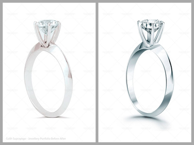 Professional jewellery retouching for 5 images
