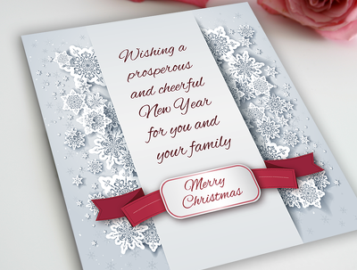 Make beautiful Christmas and new year cards