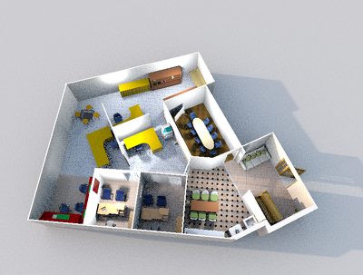 Design you a  Architectural floor plan for your house or office in 3D