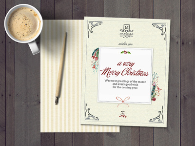 Create a watercolour Christmas card for your business