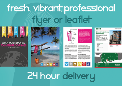 Design a fresh, high impact, pro flyer or leaflet for an individual, business, event