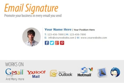 Create HTML signature for your email Yahoo Google Thunderbird Apple Mail Hotmail