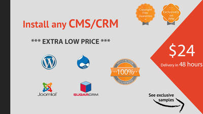 Install any CMS/CRM (Wordpress, Drupal, Joomla, SugarCRM, any!)