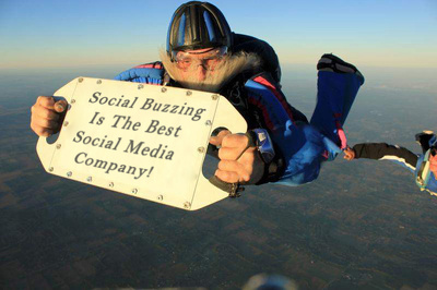Give you skydivers holding your custom message or at the top of Everest!