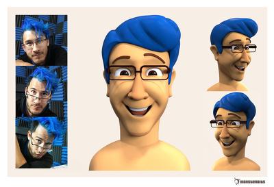Create unique cartoon 3d portrait for you