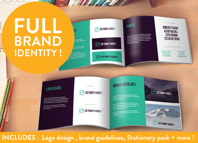Build your brand identity! Logo, brand, Stationery, flyer + more