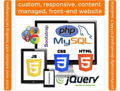 Custom, responsive, content-managed, social, SEO, fast, secure HTML5/Bootstrap site