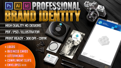 Design Professional Logo Identity + Business Stationery + Website Favicon