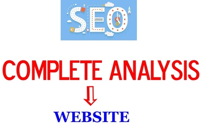 Do Full Analysis of your website and provide Analysis Report