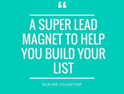 Create a mesmerising PDF of a topic of your choice as a Lead Magnet