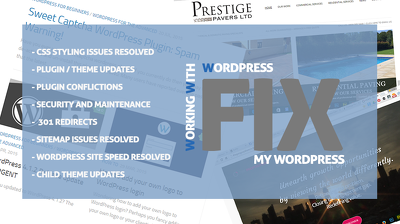 Update your Wordpress system, update your plugins (1 hour of maintenance on site)