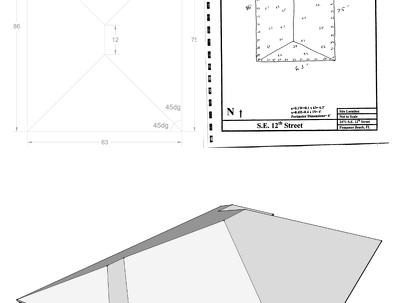 Create a 3D model of roof according to building permission