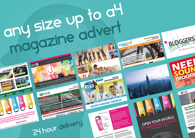 Design a fantastic magazine advert or leaflet for your business, product, or event