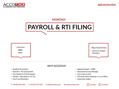 Process the payroll and provide you payslips for up to 3 Employees