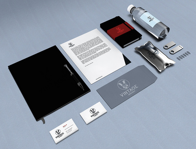 Your new business stationery: business card, letterhead, comp slip, envelope